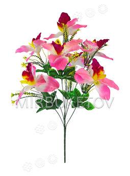 Искусственные цветы Букет Орхидеи, 7 голов, 620 мм