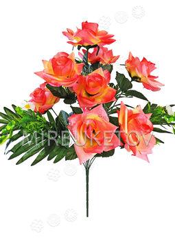 Искусственные цветы Букет Розы, 11 веток, 580 мм
