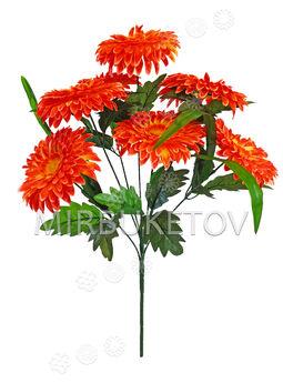 Искусственные цветы Букет Герберы, 7 голов, 630 мм