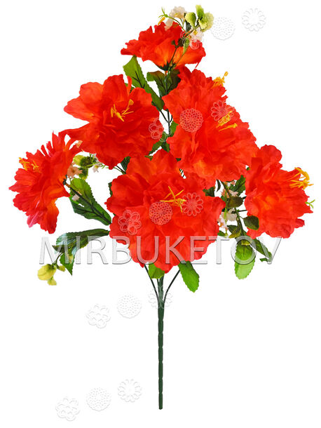 Искусственные цветы Букет Георгины, 7 цветков, 660 мм