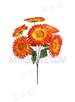Искусственные цветы Букет Герберы, 7 голов, 410 мм