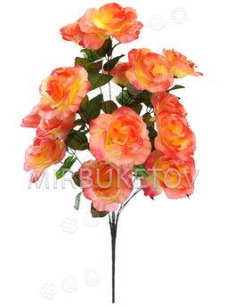 Искусственный Букет Розы волнистой, 15 голов, 860 мм