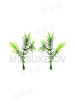 Добавка одиночная с листиками-ресничками, 90 мм