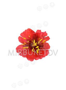 Искусственные цветы красного Мака, шелк, 70 мм