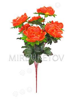 Искусственные цветы Букет Пионов, 7 голов, 640 мм