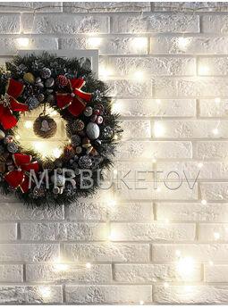 Гирлянда бахрома проволочная LED холодная белая, 200 ламп, 3.0x1.0 м