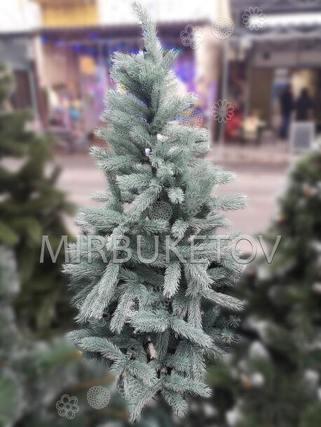 Искусственная литая елка, голубая, 1.8 м