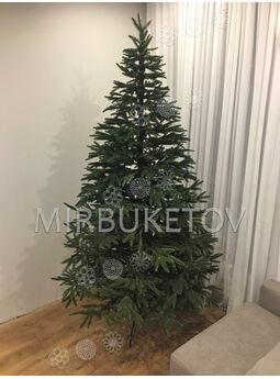 -Искусственная литая елка, зеленая, 2.1 м