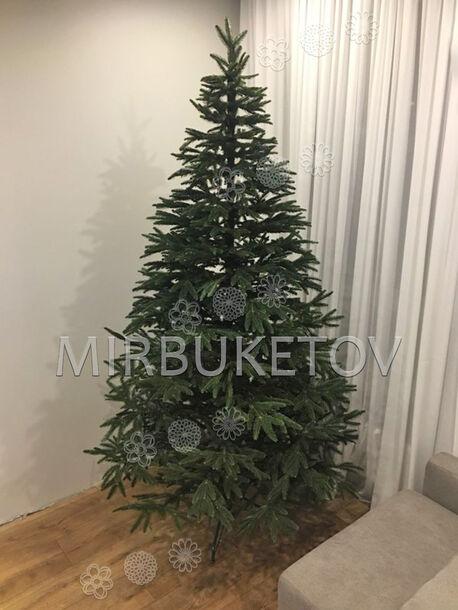 Искусственная литая елка, зеленая, 2.1 м