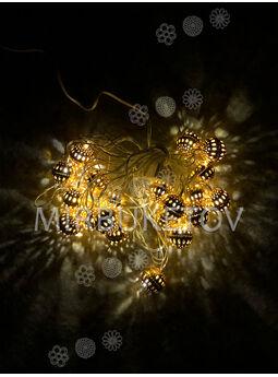 """Светодиодная гирлянда LED """"Марокканские Шарики"""" , теплый белый, 20 ламп"""