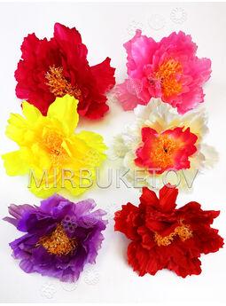 Искусственные цветы Пиона, атласный шелк, 180-200 мм