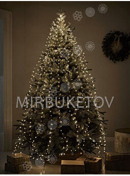 Гирлянда Конский хвост проволочная, теплый белый, 600 LED ламп, 25 нитей, 2.3 м