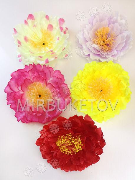 Искусственные цветы Пиона, атлас, 210 мм