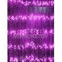 Гирлянда водопад LED сиреневая, 300 ламп, 3x1.2 м