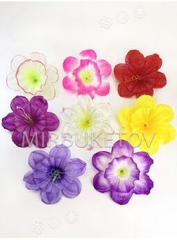 Искусственные Пресс цветы Нарцисс, атлас шелк, 210-230 мм