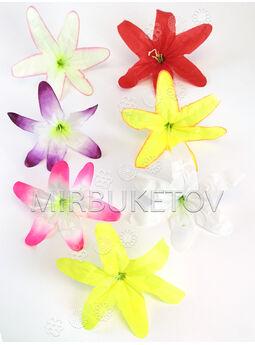 Искусственные цветы Лилии с тычинкой, атлас, 210 мм