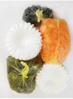 """Искусственные цветы Герберы """"Собери сам"""", белый, атлас, 180 мм"""