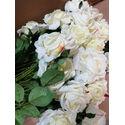 Искусственные цветы Премиум Роза на ножке, бархат, 700 мм