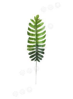 Лист Пальмы перистый, текстильный, 440x140 мм