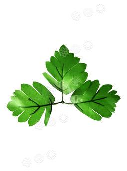 """Искусственный Лист тройной """"Лапка"""", зеленый, 180 мм"""
