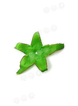 """Искусственный лист подставка """"Звезда"""", зеленый с кантом, 110 мм"""