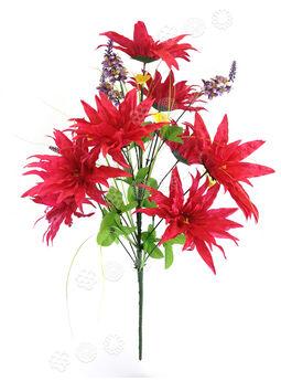 Искусственные цветы Букет Крокуса и Каллы, 18 голов, 650 мм