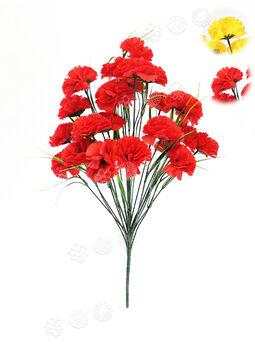 Искусственный Букет Гвоздики, 24 цветка, микс, 540 мм