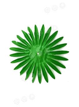 """Искусственный лист подставка """"Солнце"""", зеленый, 150 мм"""