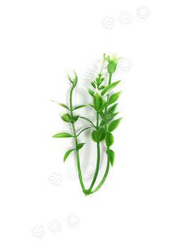 "Добавка тройная пластиковая ""Спираль"", зеленая с белым, 100 мм"