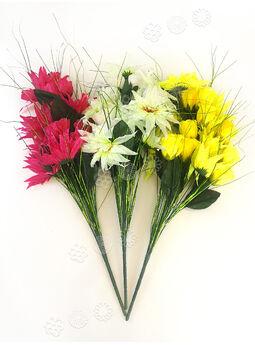 Искусственные цветы Букет Крокуса и Розы, 18 головок, 680 мм
