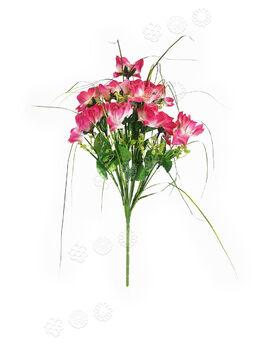 Искусственные цветы Букет Роз, 12 бутонов, микс, 420 мм