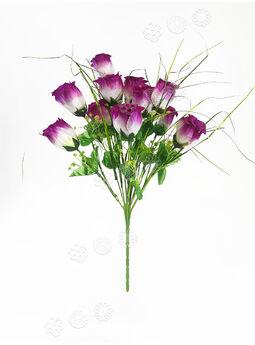 Искусственные цветы Букет Розы блеск, 12 головок, микс, 450 мм