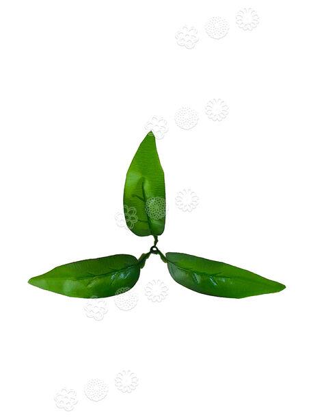 Искусственный Лист, 3 листа на ветке, зеленый, 155 мм