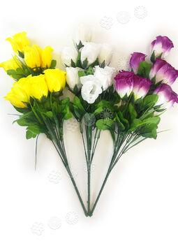 Искусственные цветы Букет Розы, 9 бутонов, микс, 530 мм