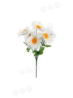 Искусственные цветы Букет белой Ромашки, 6 голов, 330 мм