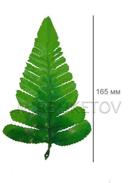 Лист папоротника одиночный большой, 165 мм, L222