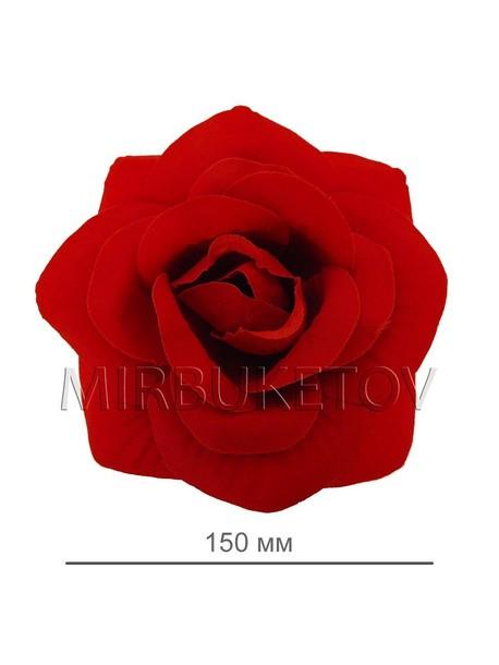 Бархатная круглая роза 115