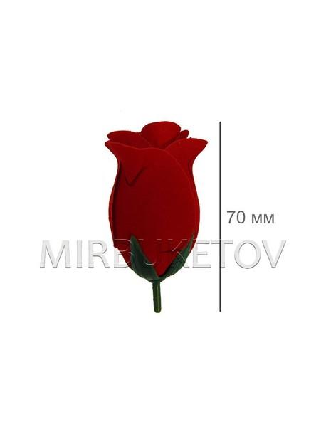 Роза бархатная бутон 114