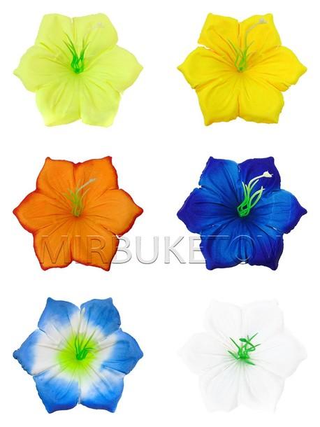 Искусственные Пресс цветы Мальва угловая, шелк, 120 мм