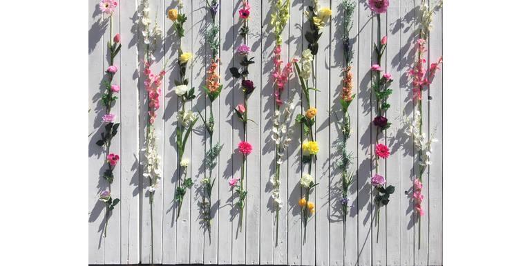 """Композиция из искусственных цветов #2 """"FlowerWall"""""""